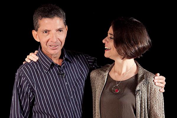 Edson Claro e a bailarina Inês Bógea, apresentadora do programa Figuras da Dança, dedicou um episódio ao potiguar