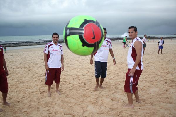 Jogadores da Venezuela já treinam há dois dias na cidade