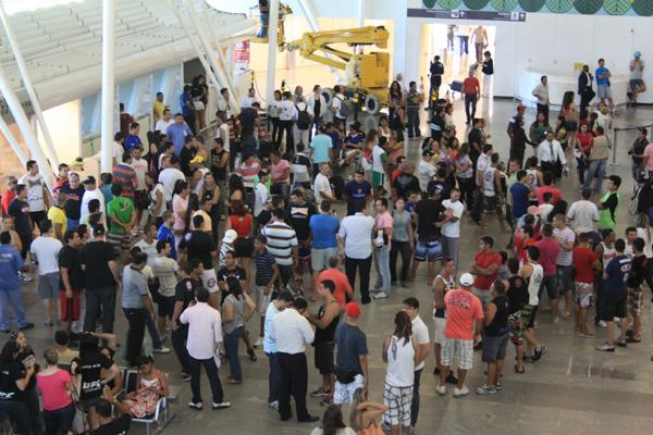Terminal, na última segunda-feira: mais espaço para atender demanda