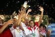 Atletas comemoram a conquista do Potiguar