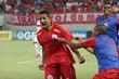 Adriano Pardal comemora o seu gol no jogo, o segundo do América