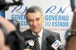 Após reunião com a governadora, Valmir Campelo concedeu entrevista aos veículos de imprensa