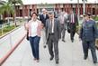 Após a reunião, Rosalba e Valmir Campelo foram até o canteiro de obras do estádio Arena das Dunas
