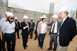Após a reunião, Rosalba e Valmir Campelo estiveram no canteiro de obras do estádio Arena das Dunas